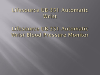 Lifesource UB-351 Automatic Wrist