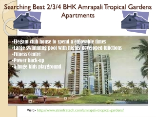 Location Advantage Amrapali Tropical Gardens Apartments Noi