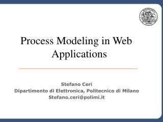 Process Modeling in Web Applications