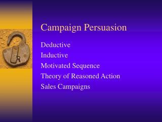 Campaign Persuasion