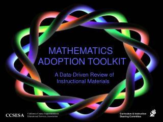 Math Adoption Toolkit, CESSA