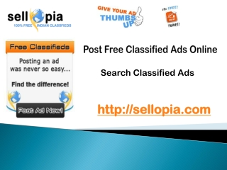 Post and Search Free Classified Ads in India