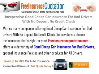 Inexpensive Good Cheap Car Insurance For Bad Drivers With No
