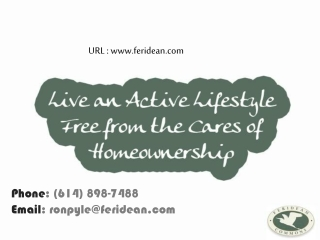 Live An Active Lifestyle Free From The Cares Of Homeownershi