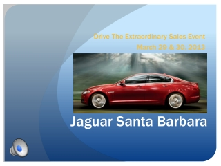 Drive The Extraordinary Sales Event March 29 & 30, 2013