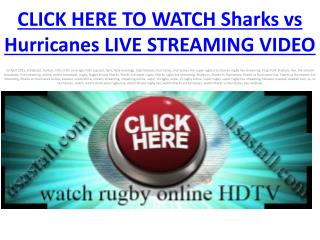 Watch Sharks vs Hurricanes Live Free Stream HDTV broadcast