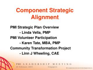 PMI s Strategic Planning Process