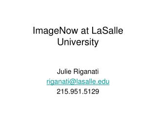 ImageNow at LaSalle University