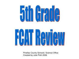 5th Grade FCAT Review