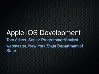 Apple iOS Development