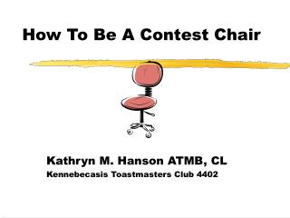 How To Be A Contest Chair