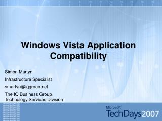 Windows Vista Application Compatibility