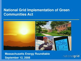 National Grid Implementation of Green Communities Act