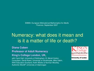 EMMA: European Motivational Mathematics for Adults Florence ...