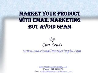 Market your product with Email marketing But avoid Spam