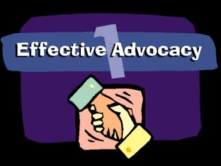 Advocacy is: