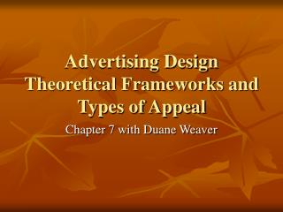 Advertising Design Theoretical Frameworks and Types of Appeal