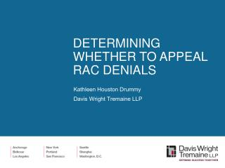 DETERMINING WHETHER TO APPEAL RAC DENIALS