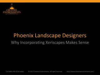 Phoenix Landscape Designers: Why Incorporating Xeriscapes Ma