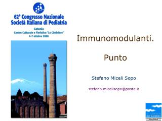 Immunomodulanti. Punto