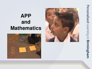 APP and Mathematics