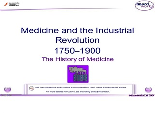 Medicine and the Industrial Revolution 1750