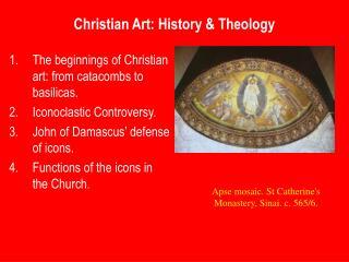 Christian Art: History  Theology
