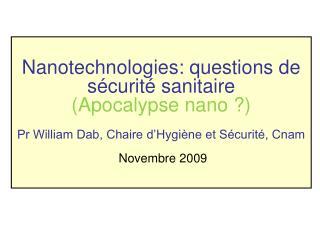 Nanotechnologies: questions de s