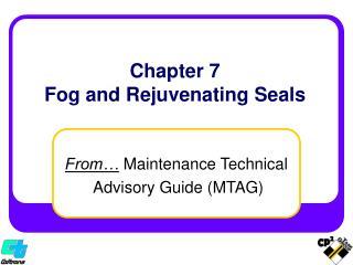 Chapter 7 Fog and Rejuvenating Seals