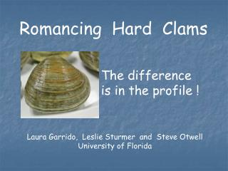 Hard Clam Sensory Profile Powerpoint