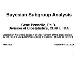 Bayesian Subgroup Analysis