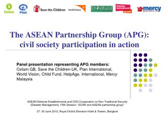 The ASEAN Partnership Group APG: civil society participation in ...