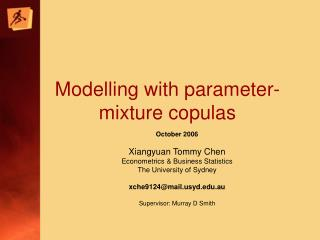 Modelling with parameter-mixture copulas