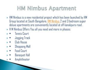 9999620966 HM Nimbus Bangalore