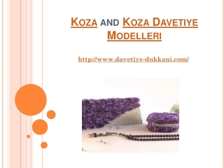 Koza and Koza Davetiye Modelleri