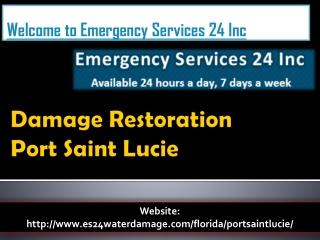Damage Restoration Port Saint Lucie