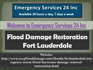 Flood Damage Restoration Fort Lauderdale
