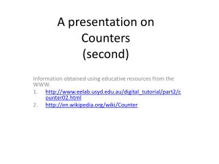 A presentation on Counters second