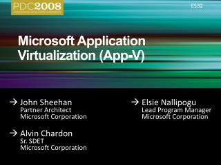 ES32 Microsoft Application Virtualization App-V