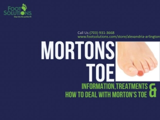 How To Deal With Morton Toes
