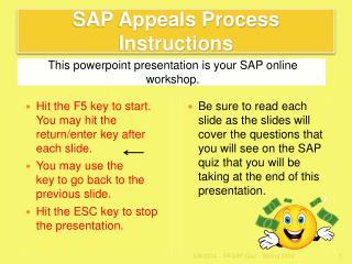 SAP Appeals Process Instructions