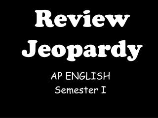 Review Jeopardy