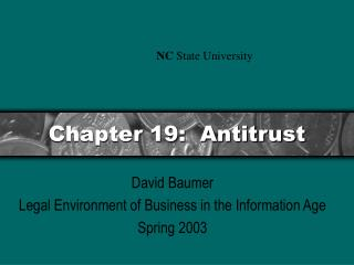 Chapter 19:  Antitrust