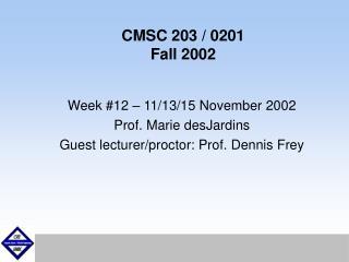 CMSC 203