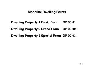 Monoline Dwelling Forms