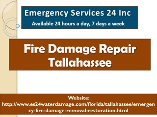 Fire Damage Repair Tallahassee