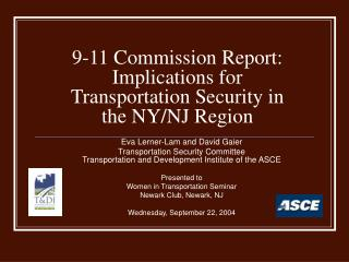 9-11 Commission Report:  Implications for Transportation Security in the NY