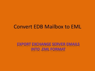 EDB to EML Conversion