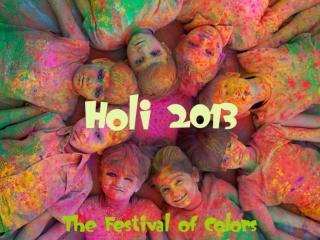 Holi 2013