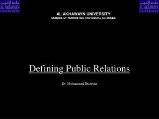 Defining Public Relations